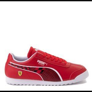 Mens Puma Ferrari Athletic Shoe Red black white